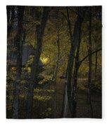 House In The Woods Fleece Blanket