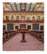 House Of Representatives - Texas State Capitol Fleece Blanket