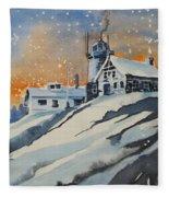 House On Hill Fleece Blanket