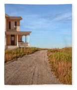 House On Rural Dirt Road Fleece Blanket