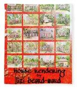 House Rendering Card Fleece Blanket