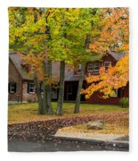 House Surrounded With Colors Fleece Blanket