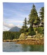 House Upon A Rock Fleece Blanket