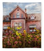 House - Victorian - Summer Cottage  Fleece Blanket