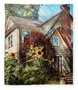 House - Westfield Nj - The Summer Retreat  Fleece Blanket