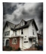 House With Brick Front - American Gothic Fleece Blanket