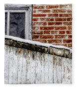 House With Shed 13122 Fleece Blanket