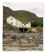 Houses At Kynance Cove Fleece Blanket