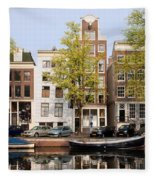 Houses In Amsterdam Fleece Blanket