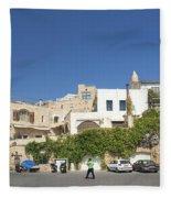 Houses In Jaffa Tel Aviv Israel Fleece Blanket
