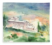 Houses In Montepulciano In Tuscany 02 Fleece Blanket