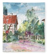 Houses In Soufflenheim Fleece Blanket