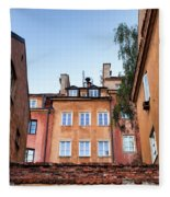 Houses In The Old Town Of Warsaw Fleece Blanket