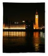 Houses Of Parliament - London Fleece Blanket