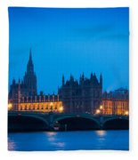 Houses Of Parliament Fleece Blanket