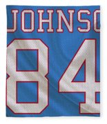 Houston Oilers Billy Whiteshoes Johnson Fleece Blanket