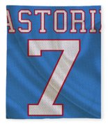 Houston Oilers Dan Pastorini Fleece Blanket