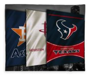 Houston Sports Teams Fleece Blanket