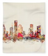 Houston Texas Fleece Blanket