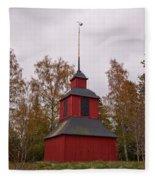 Houtskari Church Clock Tower Fleece Blanket