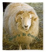 Hows It Going Old English Hunter Green Fleece Blanket