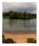 Hoyt Lake At Delaware Park Fleece Blanket