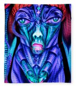 H.r. Giger Inspired D Fleece Blanket