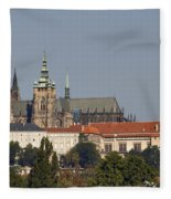 Hradcany - Cathedral Of St Vitus On The Prague Castle Fleece Blanket
