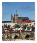 Hradcany - Prague Castle Fleece Blanket