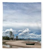 Hua Hin Coastline Fleece Blanket