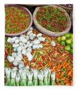 Hua Hin Market 03 Fleece Blanket