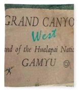 Hualapai Nation Signpost Fleece Blanket