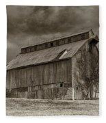 Huber Ferry Barn Osage County Mo Dsc00720 Fleece Blanket