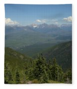 View Of The Rockies From Huckleberry Mountain Glacier National Park Fleece Blanket
