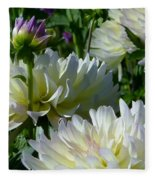 Hues Of Softness Dahlia Fleece Blanket
