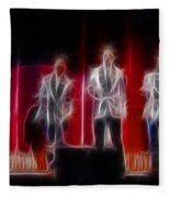Huey Lewis-ga11a-fractal Fleece Blanket