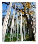 Huge Tree Covered In Toilet Paper Fleece Blanket