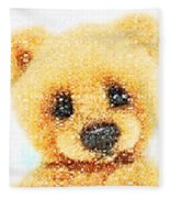 Huggable Teddy Bear Fleece Blanket