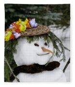Hula Snowlady Fleece Blanket