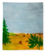 Human Destruction Fleece Blanket