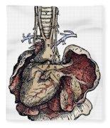 Human Heart, 1543 Fleece Blanket
