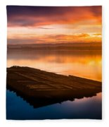 Humboldt Bay Spring Sunrise Fleece Blanket