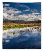 Humboldt Marshes In Spring Fleece Blanket