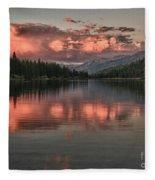 Hume Lake Sunset Fleece Blanket