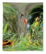 Humming Bird Digital Art Fleece Blanket