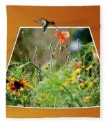 Humming Bird Out Of Bounds Fleece Blanket