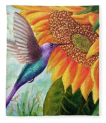 Humming For Nectar Fleece Blanket