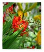 Hummingbird Among The Lucifer Fleece Blanket