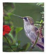 Hummingbird Delight Fleece Blanket
