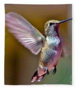 Hummingbird Frolic Fleece Blanket